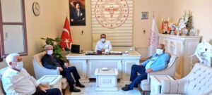 Başkan Yeloğlu, İl Sağlık Müdürü Dr. Mustafa Hambolat'ı ziyaret etti